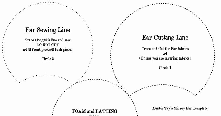 Minnie Mouse Ears Template Printable Best Of Mickey Ears Template Pdf Crafts