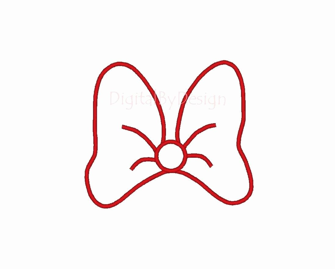 Minnie Mouse Ears Template Printable Luxury Bow Pattern for Invitations and Banner