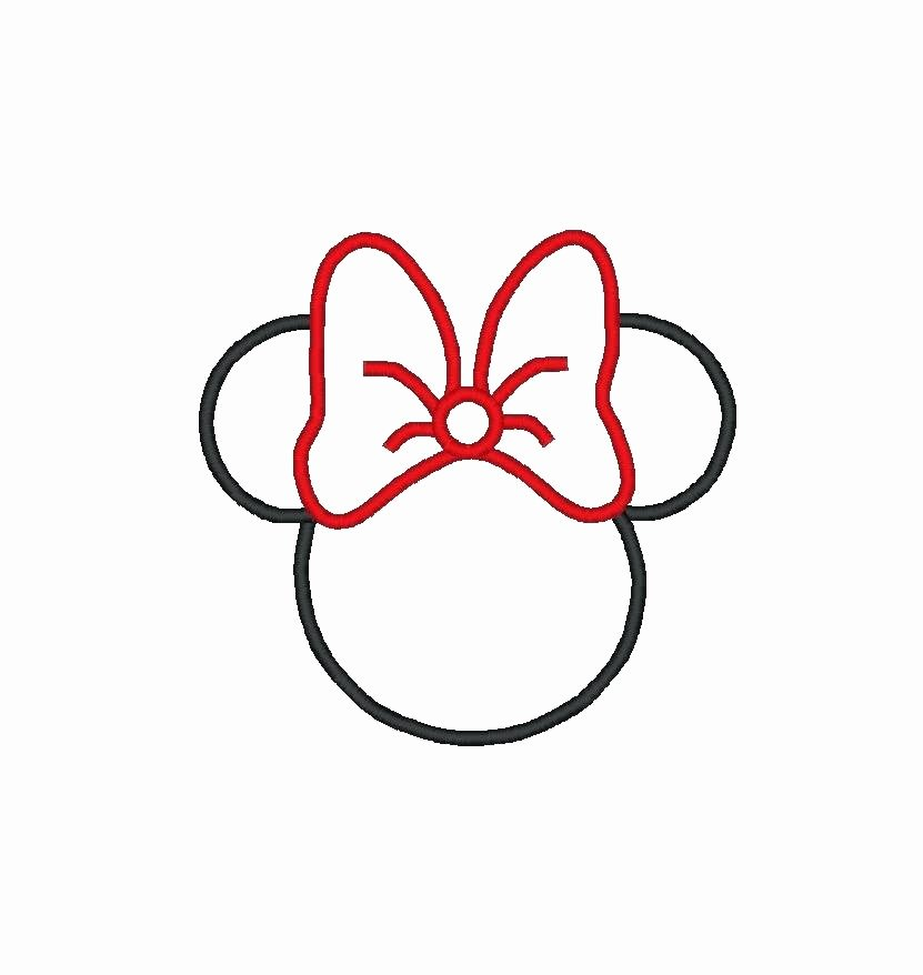 Minnie Mouse Ears Template Printable Luxury Minnie Mouse Head Silhouette Printable at Getdrawings