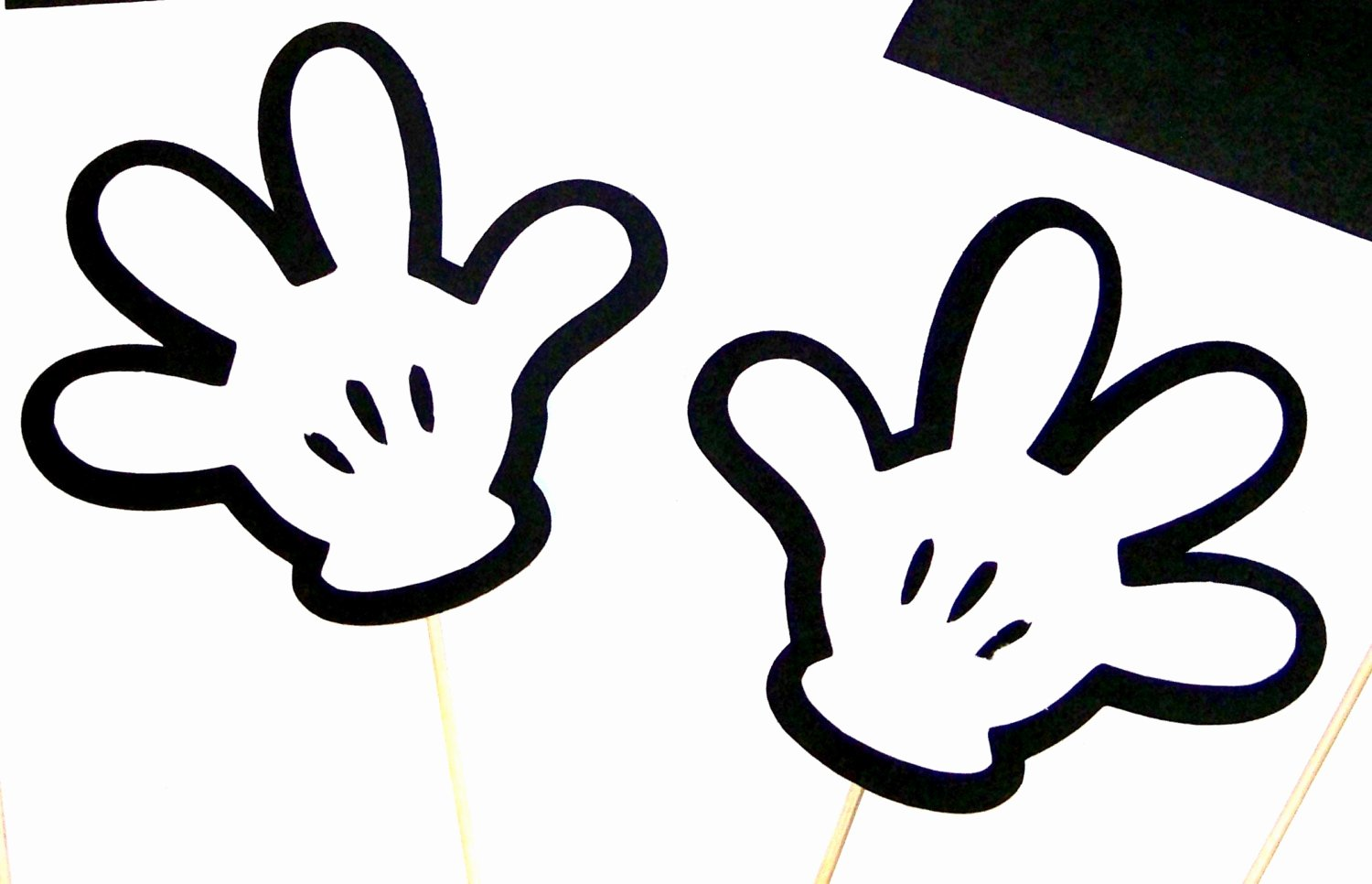 Minnie Mouse Hands Template Elegant Booth Props Disney Mickey & Minnie Mouse by
