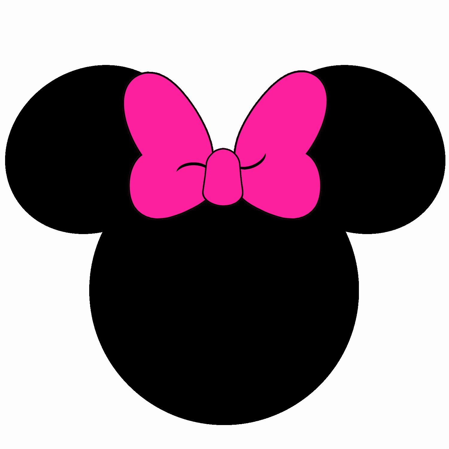 Minnie Mouse Head Silhouette Printable Awesome Minnie Mouse Head Silhouette at Getdrawings