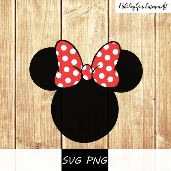 Minnie Mouse Head Silhouette Printable Beautiful Minnie Mouse Head Svg Png Vector Cut File Silhouette Boy