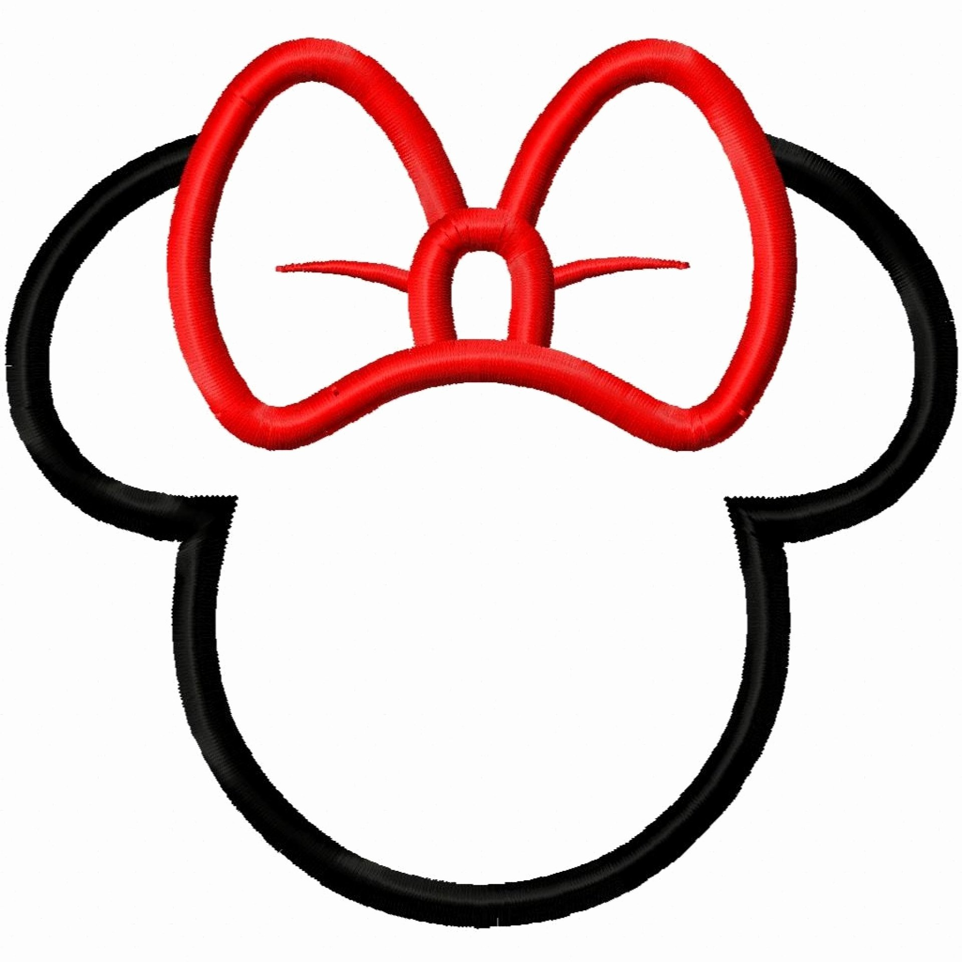 Minnie Mouse Head Silhouette Printable Best Of Minnie Mouse Head Clip Art