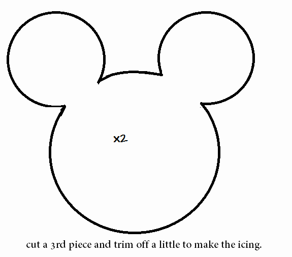 Minnie Mouse Head Silhouette Printable Lovely How to Make A Minnie Mouse Cookie Plushie Tutorial