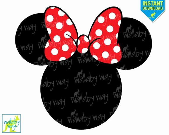 Minnie Mouse Head Silhouette Printable New Items Similar to Minnie Mouse Head Red Bow Printable Iron