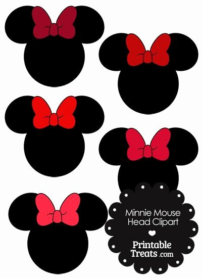 Minnie Mouse Head Silhouette Printable New Minnie Mouse Head Clipart with Red Bows From