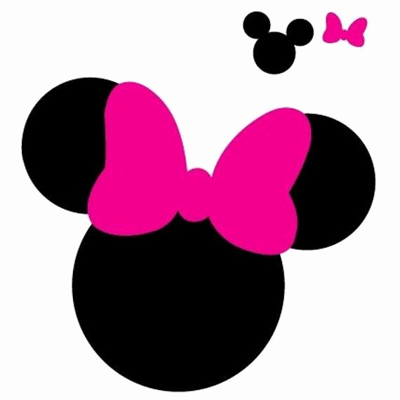 Minnie Mouse Head Silhouette Printable Unique Mickey Mouse Ears Svg Set