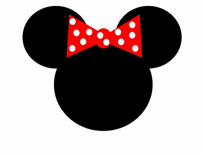 Minnie Mouse Head Silhouette Printable Unique Minnie Mouse Head Templates Clipart Best