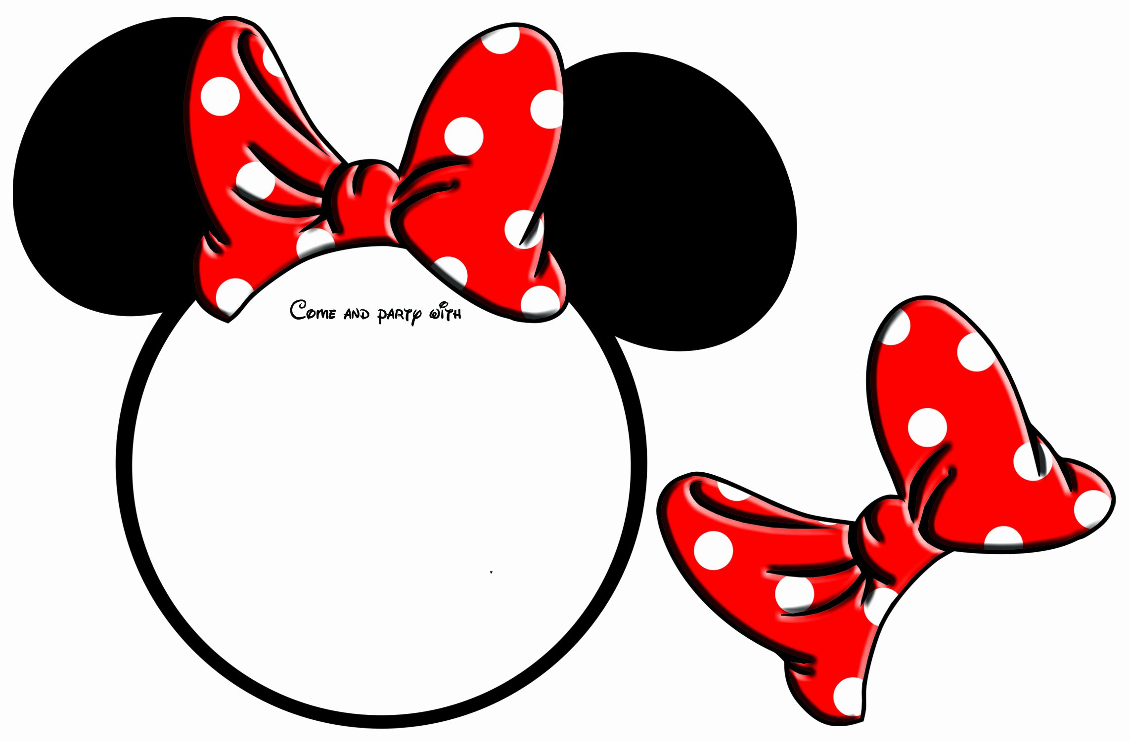Minnie Mouse Template Head Awesome Browse and Free Clipart by Tag Minnie On Clipartmag