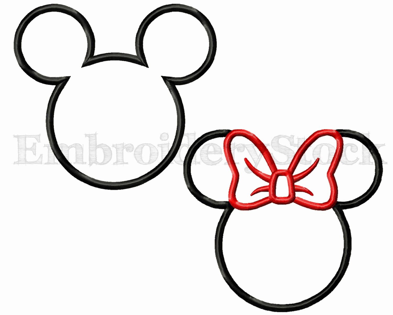 Minnie Mouse Template Head Elegant Minnie Head Outline