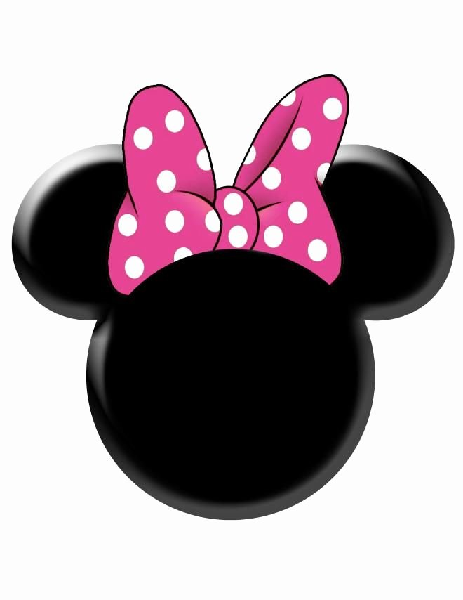 Minnie Mouse Template Head Fresh Pink Minnie Mouse Bow Template