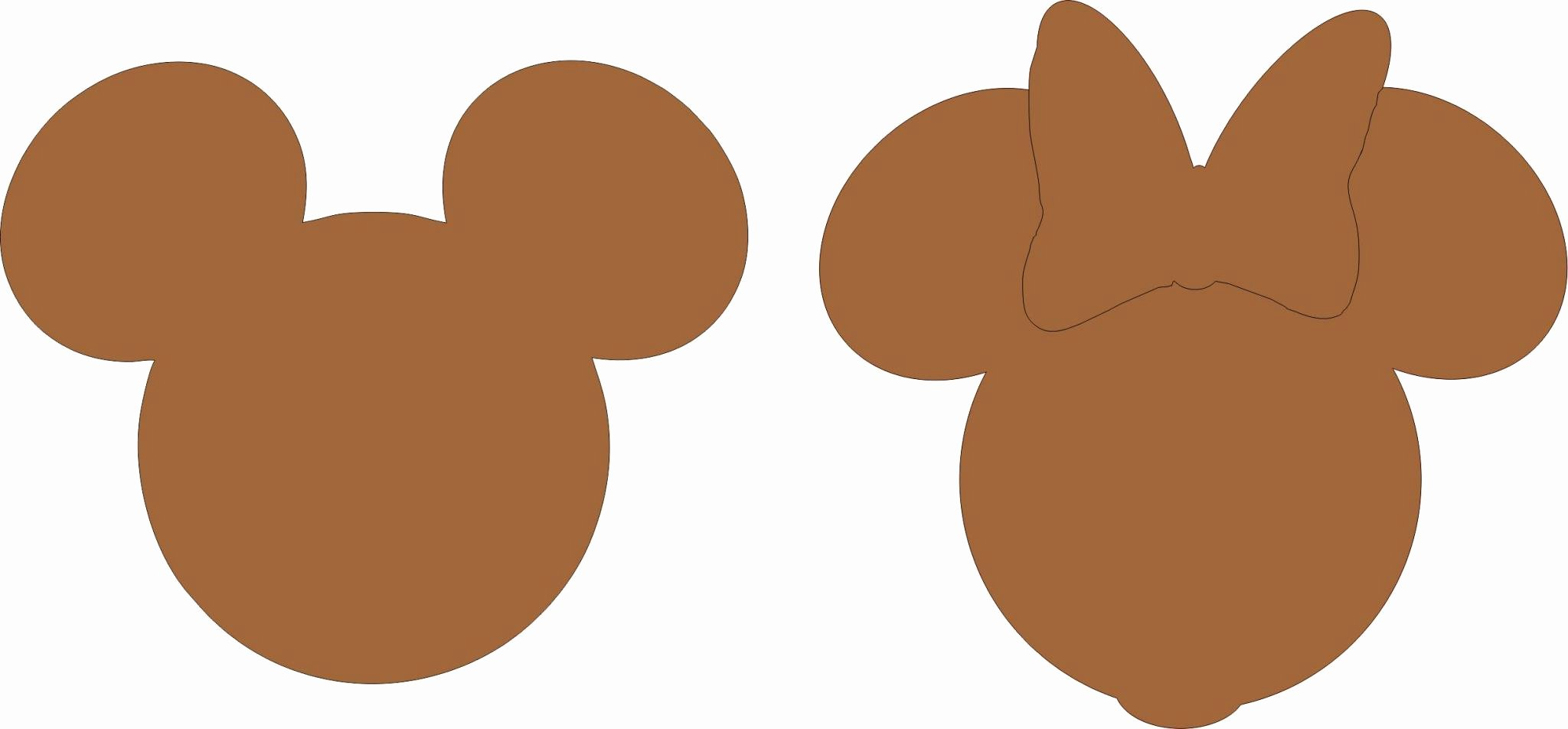 Minnie Mouse Template Head Luxury Free Mickey and Minnie Mouse Silhouette Download Free