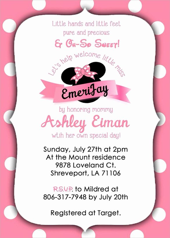 Minnie Mouse Template Pdf Beautiful Mickey Mouse Invitation Template Free Download