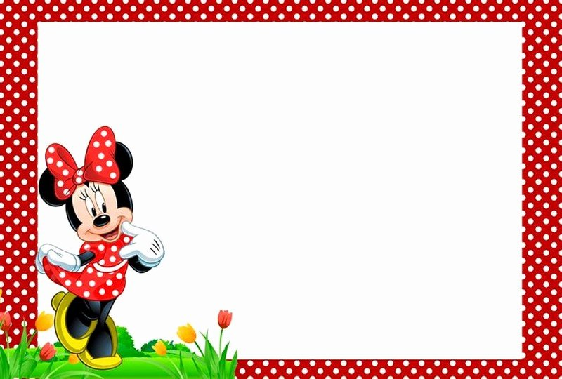 Minnie Mouse Template Pdf Best Of Minnie Mouse Invitation Template