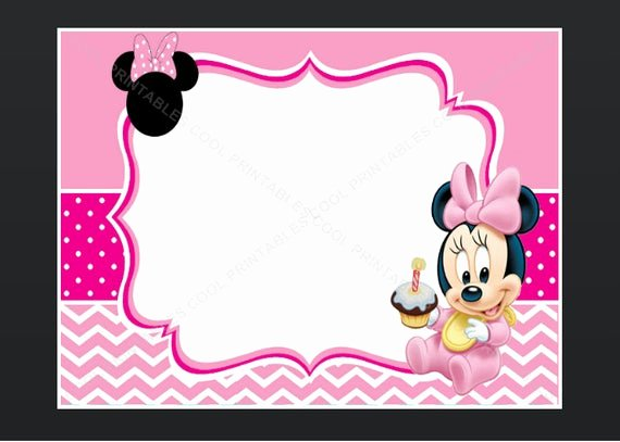 Minnie Mouse Template Pdf Elegant Minnie Mouse Blank Invitation Birthday Thank You by