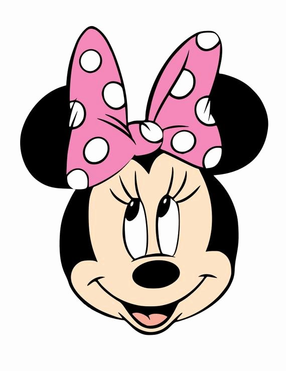 Minnie Mouse Template Pdf New Mickey and Minnie Mouse Faces Svg Pdf Png and Dxf Files
