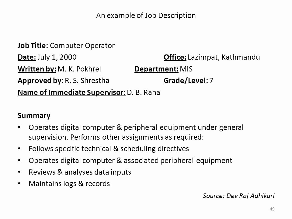 Mis Job Description Luxury Meeting Human Resource Requirements Ppt