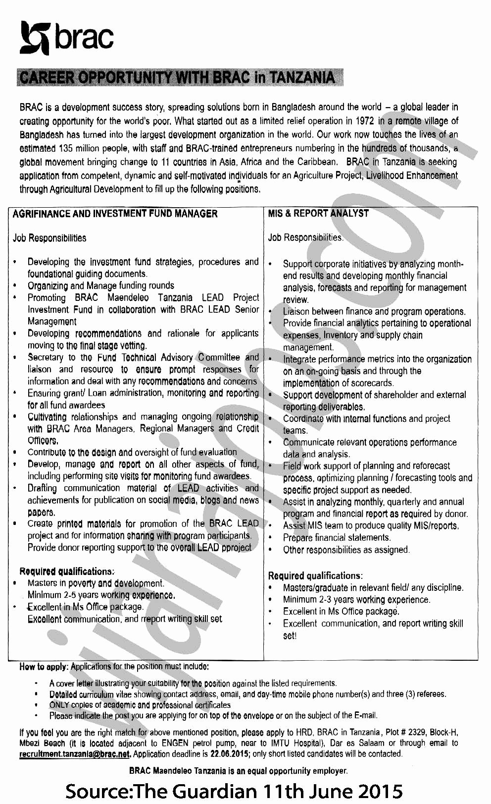 Mis Job Description Unique Agrifinance and Investment Fund Manager Mis & Report
