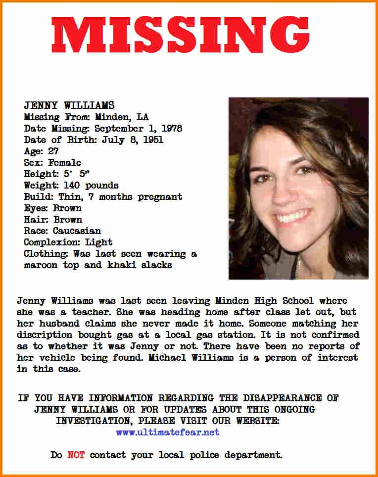 Missing Person Flyer Template Fresh Missing Person Poster Template