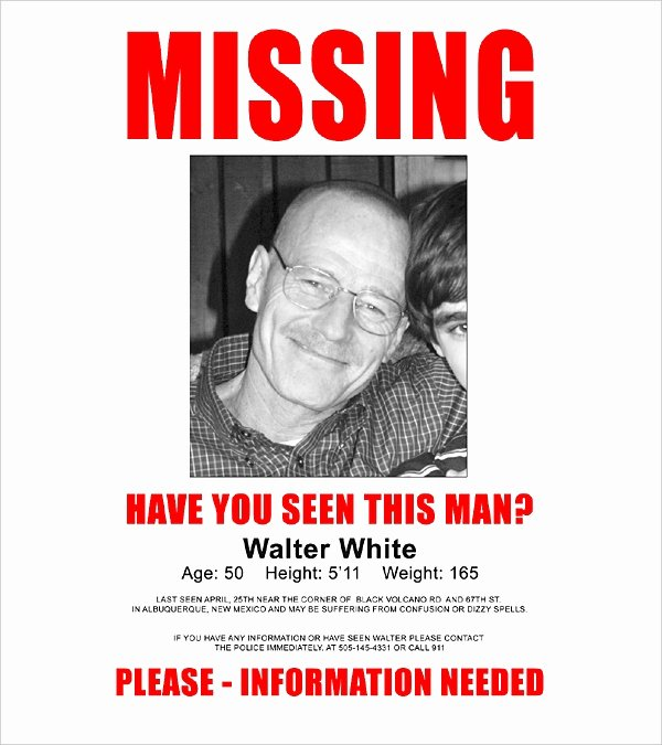Missing Person Flyer Template Luxury 16 Wanted Poster Templates Free Sample Example format
