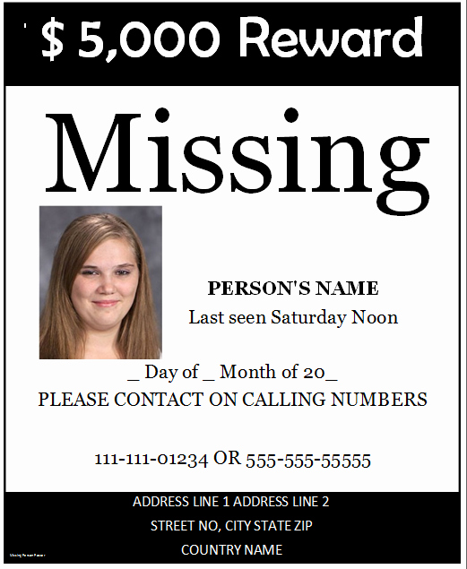 Missing Person Flyer Template Unique Poster Templates Archives Microsoft Word Templates