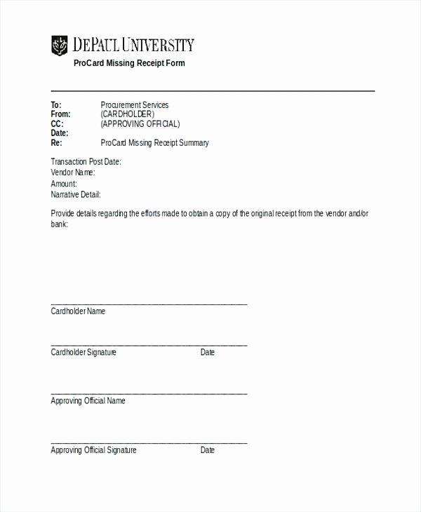 Missing Receipt form Template Awesome Free General Affidavit form Pdf Template