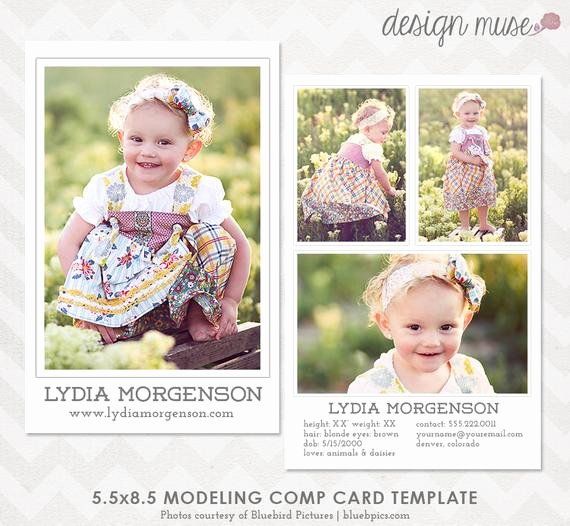 Model Comp Card Template Awesome Model P Card Template for Professional Graphers