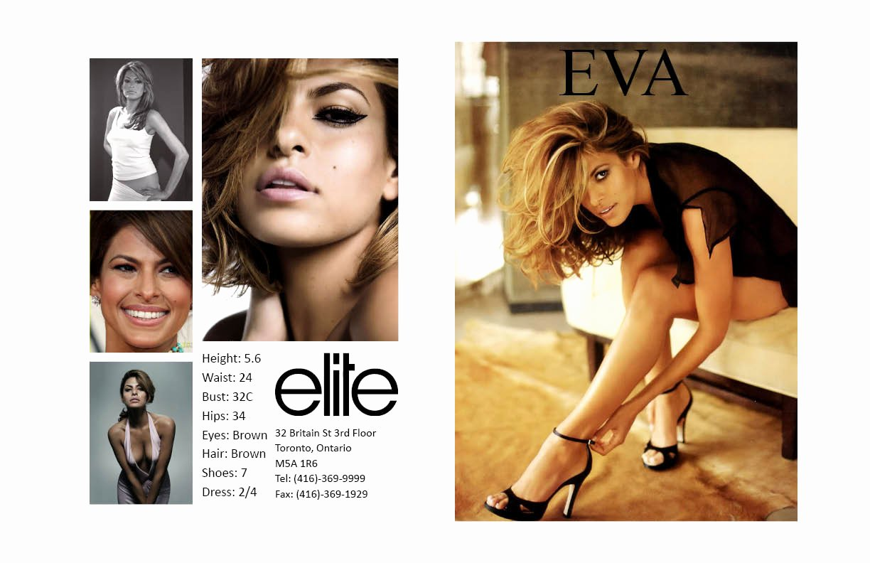 Model Comp Card Template Beautiful Nicole Camposeo S Portfolio Eva Mendes P Card