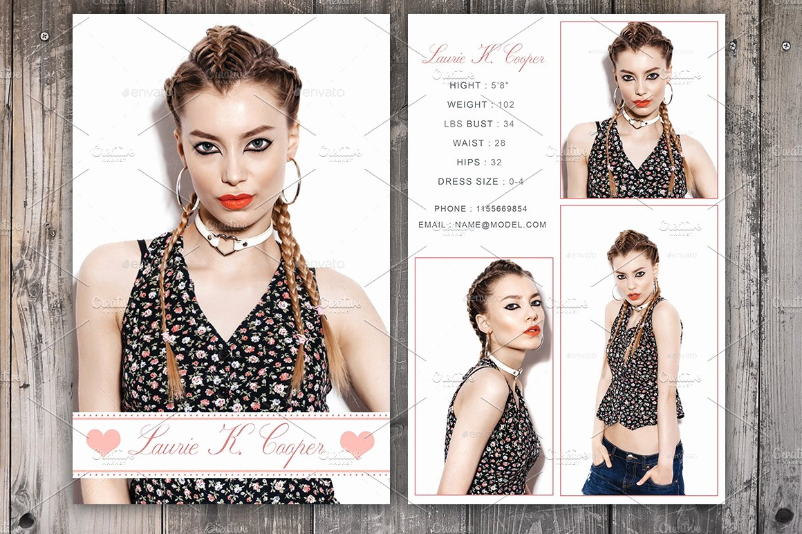 Model Comp Card Template Best Of Modeling P Card Template Card Templates Creative Market
