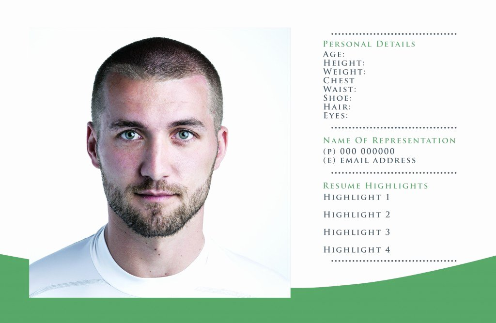 Model Comp Card Template Lovely Free P Card Templates for Actor & Model Headshots