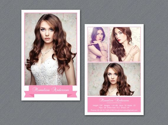 Model Comp Card Template Lovely Modeling P Card Template Model P Card Shop