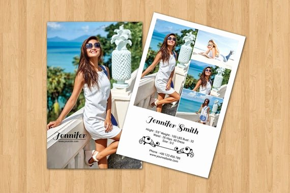 Model Comp Card Template Luxury Items Similar to Model P Card Template