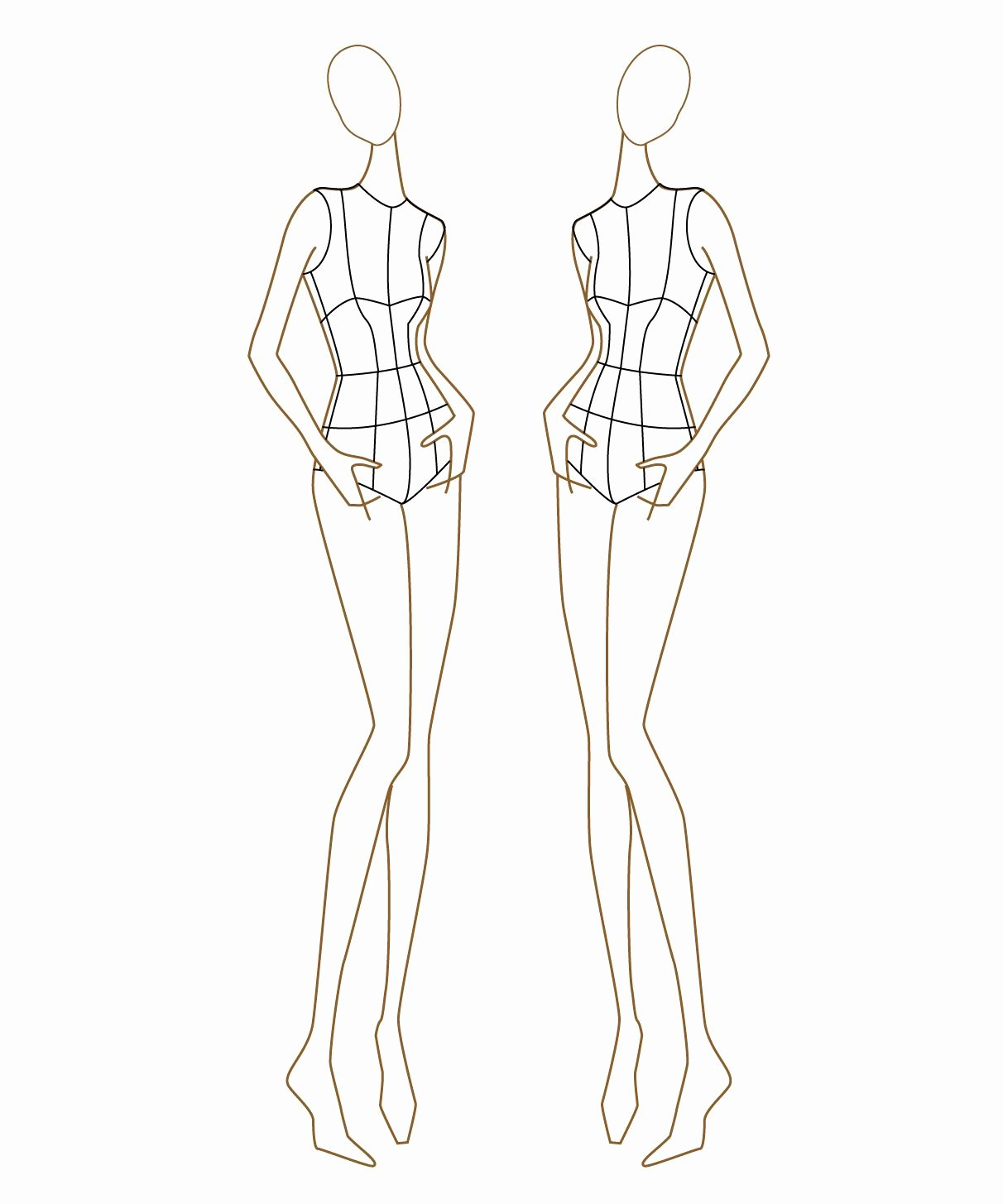 Model Sketch Template Awesome Figure for Fashion Illustration Templates