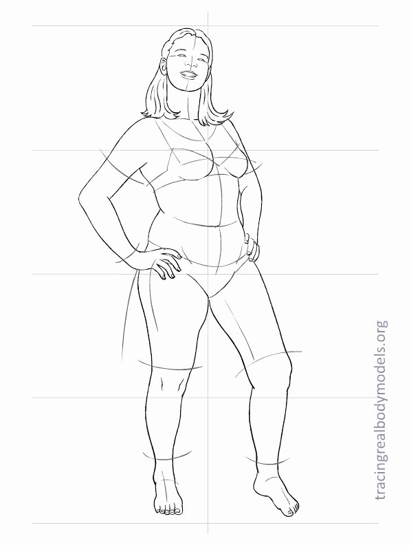 Model Sketch Template Awesome Tracing Real Body Models
