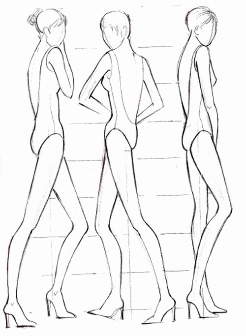 Model Sketch Template Inspirational Fashion Model Outline Coloring Pages