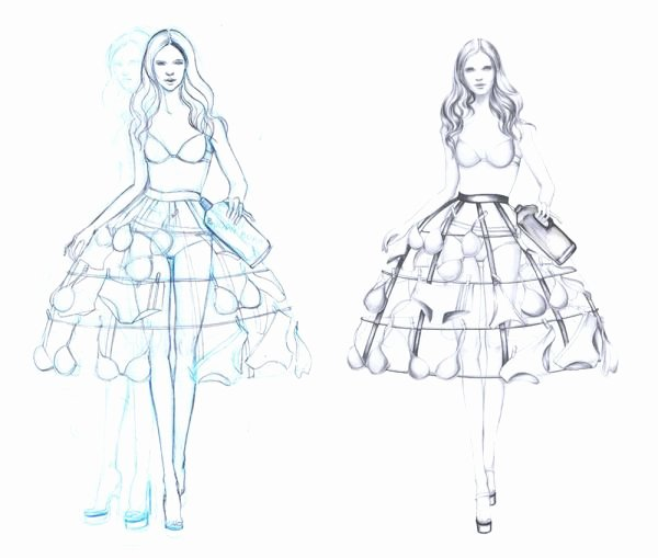 Model Sketch Template Lovely Fashion Designs Sketches Models 2014 2015