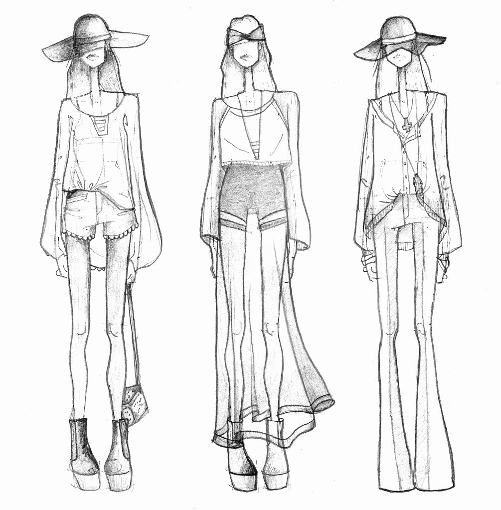 Model Sketch Template New Fashion Illustration