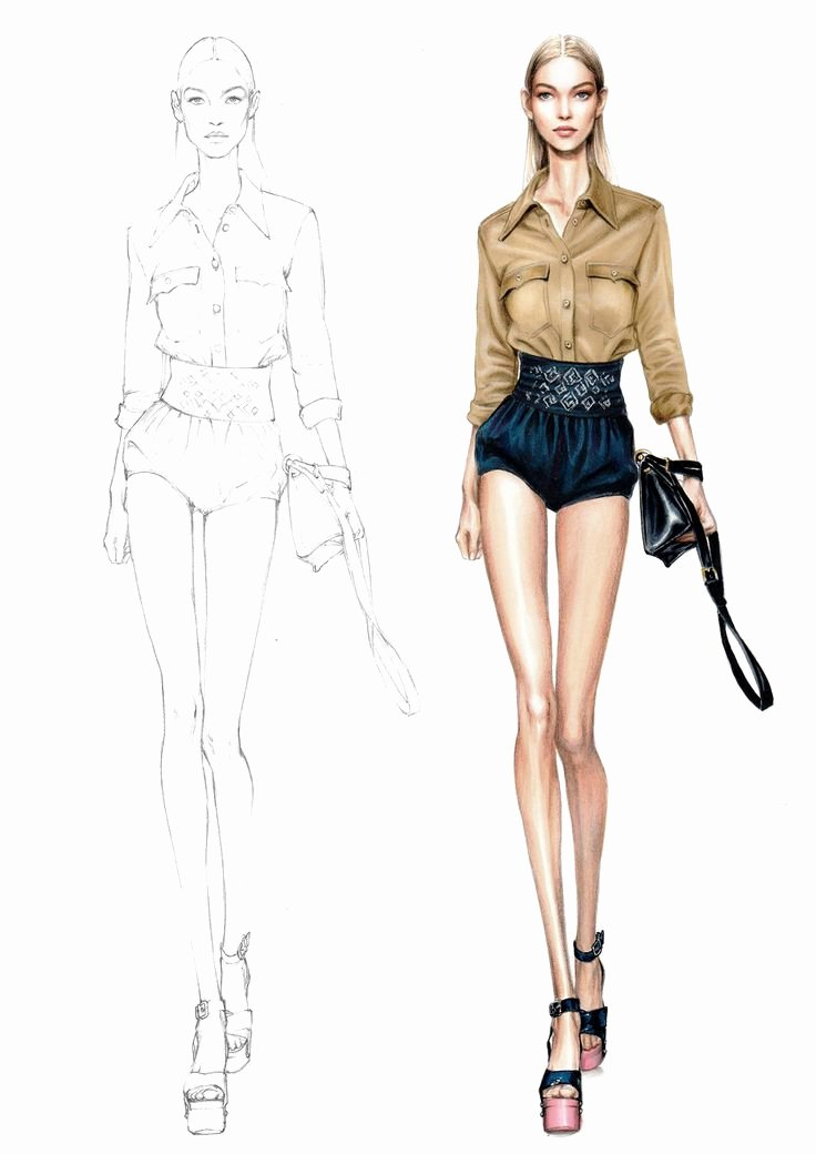 Model Sketch Template Unique 17 Best Ideas About Drawing Fashion On Pinterest