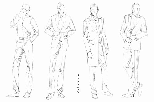 Model Sketches Template Beautiful Fashion 101
