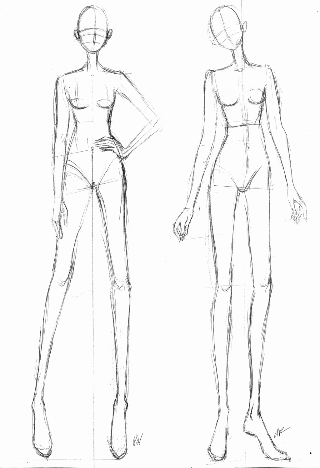 Model Sketches Template Beautiful Free Fashion Croquis 04 by Azute On Deviantart