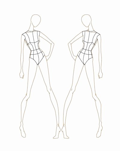Model Sketches Template Inspirational Fashion Sketch Templates