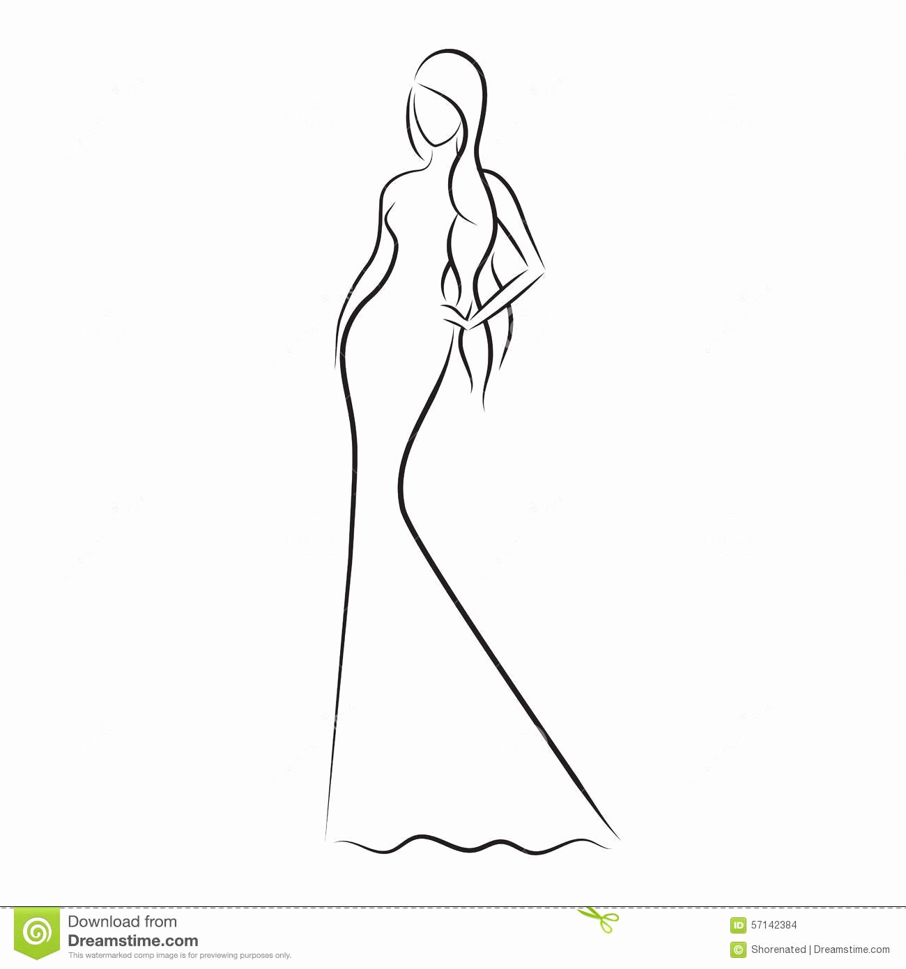 Model Sketches Template New Fashion Model Sketch Stock Vector Illustration Of