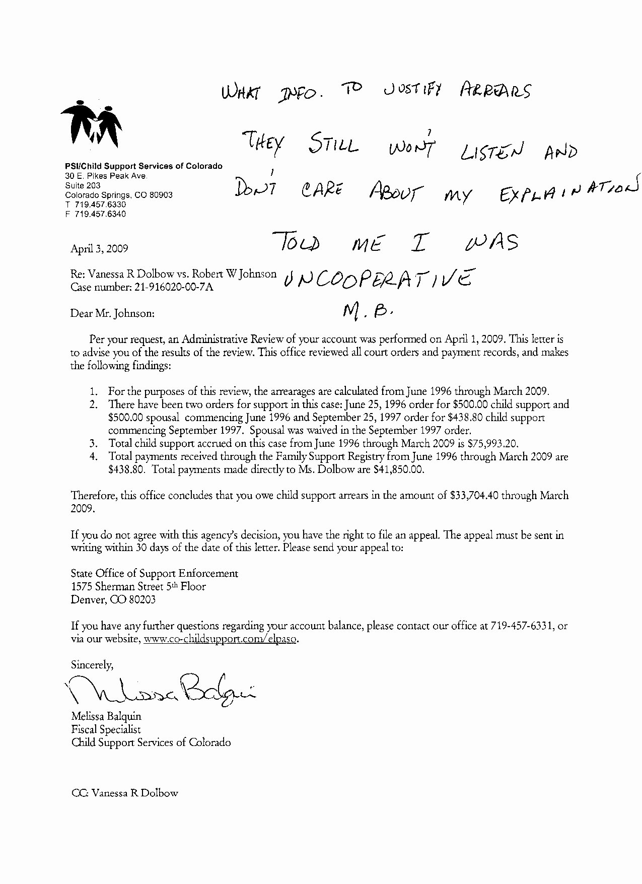 Modification Of Child Support Letter Samples Beautiful I Child Support Enforcement Case 21 00 7a