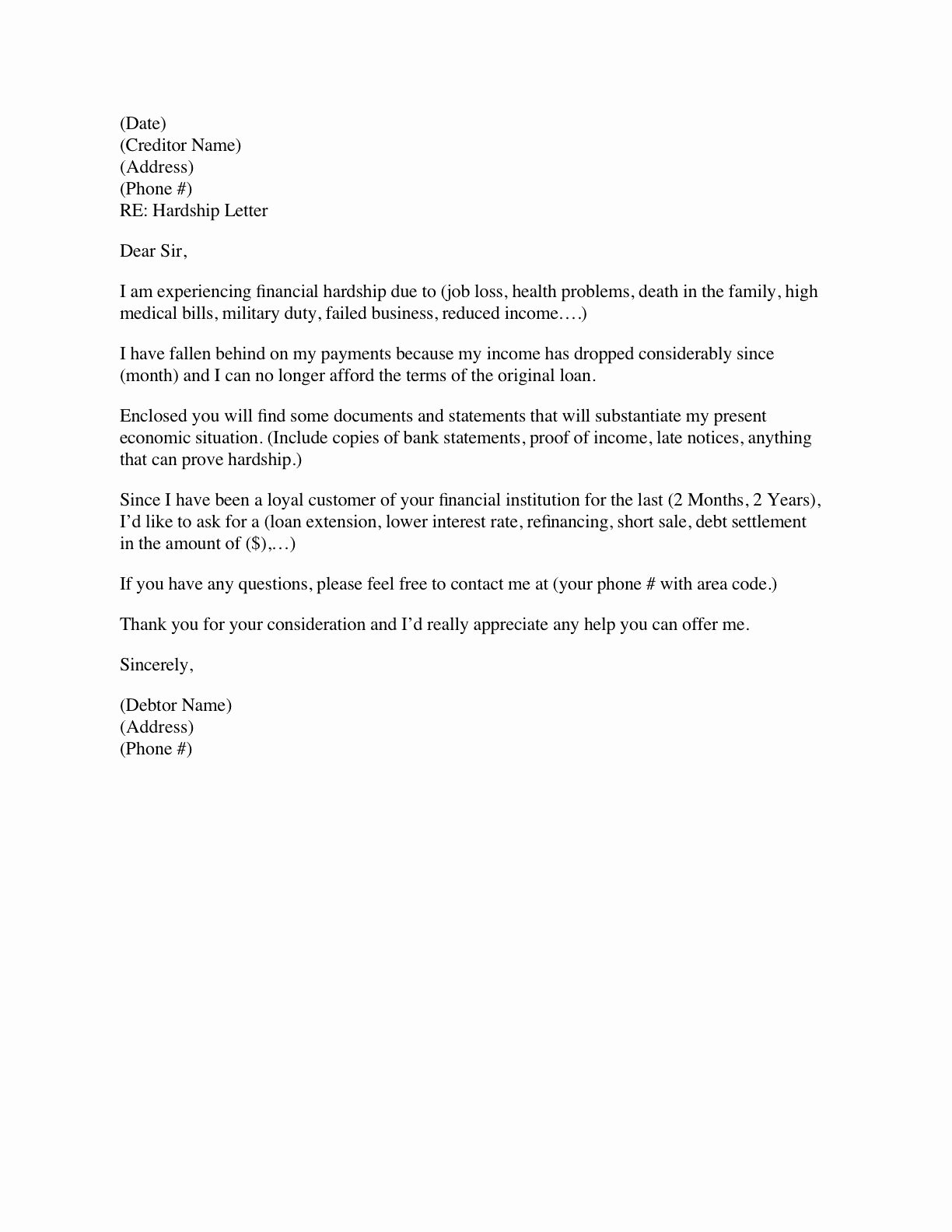 Modification Of Child Support Letter Samples Unique Financial Hardship Letter Template