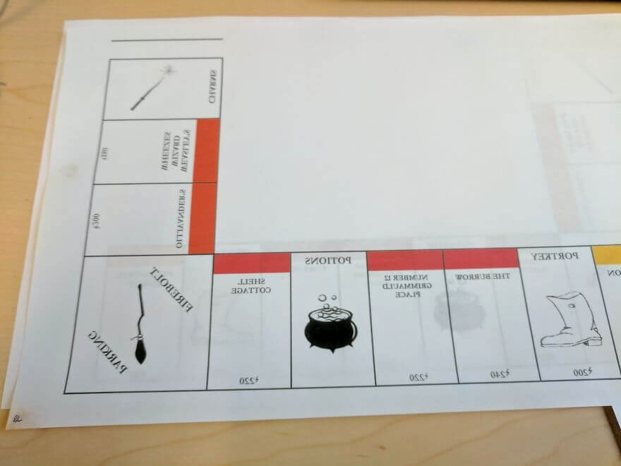 Monopoly Board Layout New I Made A Harry Potter Monopoly Game Set for Best Friend S