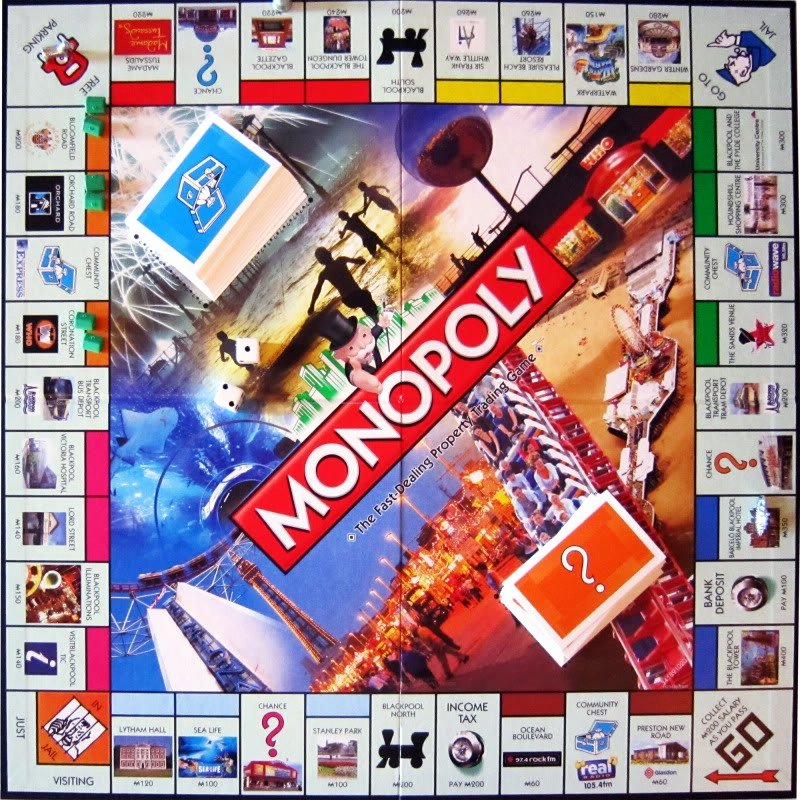 Monopoly Board Layout Unique Blackpool Monopoly