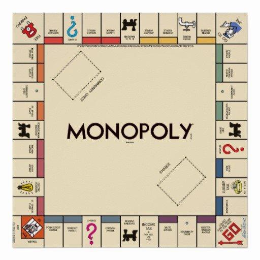 Monopoly Board Printable Fresh Vintage Monopoly Game Board Print