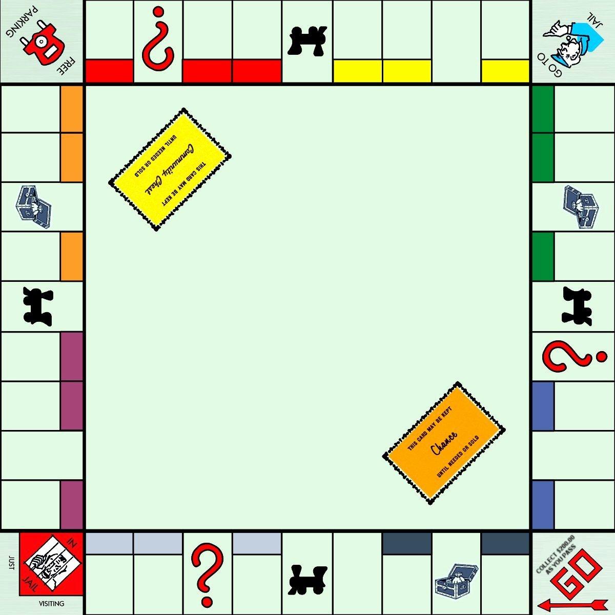 Monopoly Board Printable Inspirational Monopoly Game Board Template Fun Ideas