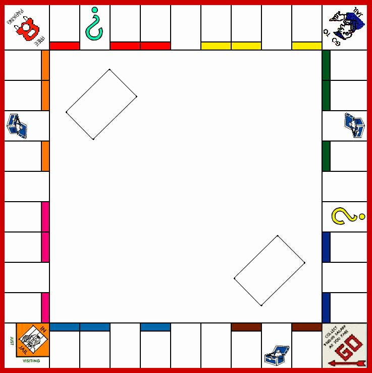Monopoly Board Printable Inspirational Monopoly Game Board Template Vons the Best 10