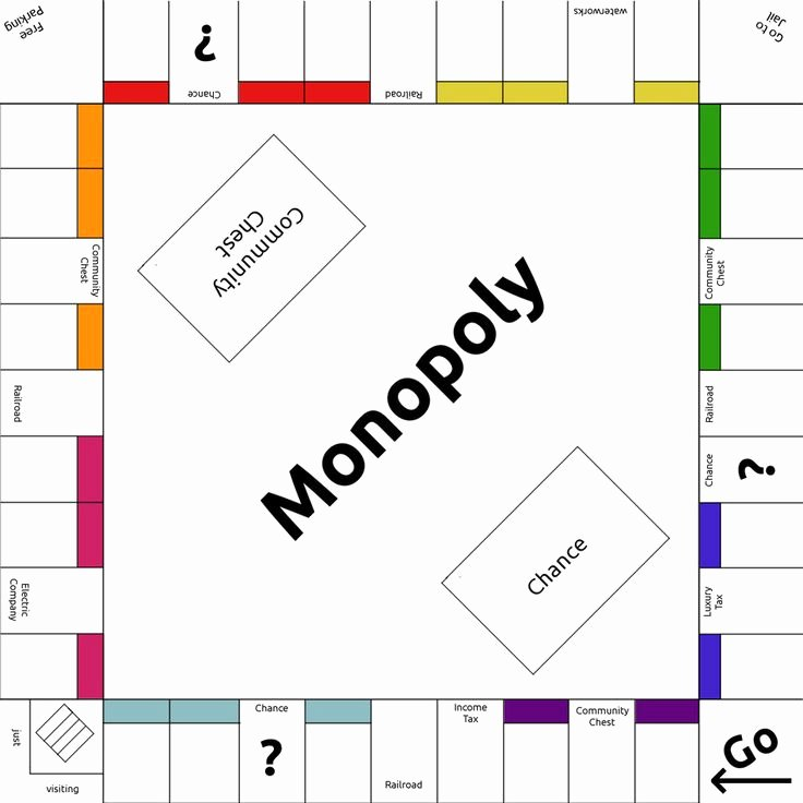 Monopoly Board Template Best Of 8 Best Monopoly Templates Images On Pinterest